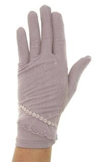 Летние перчатки сенсорные. Гипюр+Хлопок. Мокко