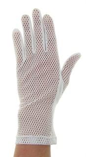 Летние перчатки крупная сетка с трикотажем. Белые - фото 19825