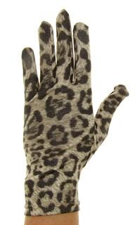 Летние перчатки тонкий трикотаж. Леопард - фото 19832