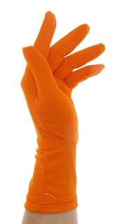 Летние перчатки трикотаж масло. Оранжевые