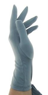 Летние перчатки трикотаж масло. Серые