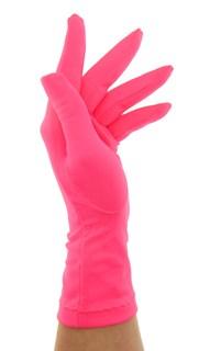 Летние перчатки трикотаж масло. Розовый неон