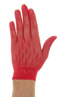 Перчатки сетка маленький размер. Красные
