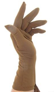 Летние перчатки трикотаж масло. Светло-коричневые
