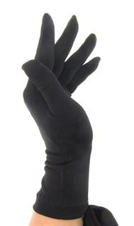 Трикотажные тонкие перчатки. Черные