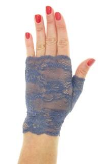 Кружевные митенки. Серо-голубые темные. 3962