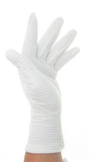 3980. Летние перчатки белые. Эластичный хлопок