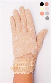 """3981. Летние перчатки сенсорные """"Иней"""". Хлопок"""