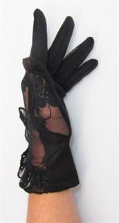 3985. Летние перчатки сенсорные с рюшей - фото 20542