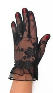 3988. Черные летние перчатки сенсорные