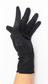 3990. Черные летние перчатки сенсорные - фото 20580