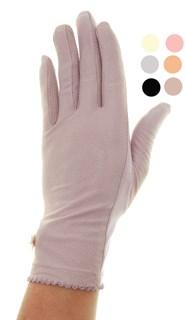3994. Тонкие перчатки сенсорные. Хлопок +трикотаж под замшу