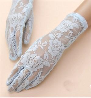 4032. Перчатки из кружева с резиновой ладошкой - фото 20873