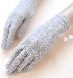 4033. Короткие перчатки из плотного кружева. 3 цвета - фото 20879