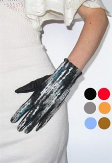 4040. Сенсорные короткие перчатки. Рогожка