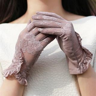 3985. Летние перчатки сенсорные с рюшей - фото 20974