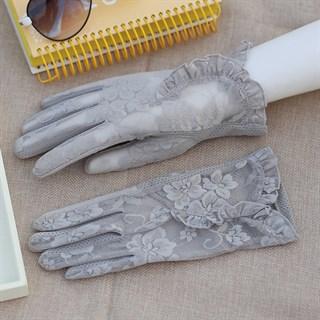 3985. Летние перчатки сенсорные с рюшей - фото 20975