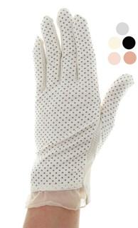 4088. Летние перчатки в горошек из хлопка