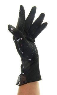 4089. Летние перчатки в цветочек из хлопка - фото 21521
