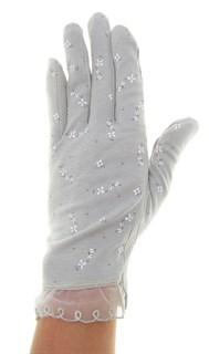 4089. Летние перчатки в цветочек из хлопка - фото 21522