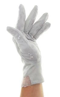 4089. Летние перчатки в цветочек из хлопка - фото 21523
