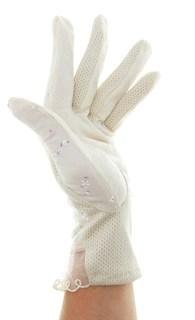 4089. Летние перчатки в цветочек из хлопка - фото 21525