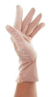 4089. Летние перчатки в цветочек из хлопка - фото 21527
