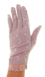 4089. Летние перчатки в цветочек из хлопка - фото 21528