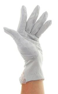 4090. Летние перчатки из хлопка без рисунка - фото 21545
