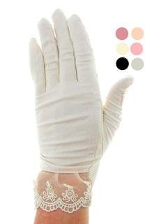 4090. Летние перчатки из хлопка без рисунка