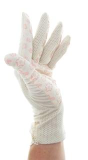 4090. Летние перчатки из хлопка без рисунка - фото 21549