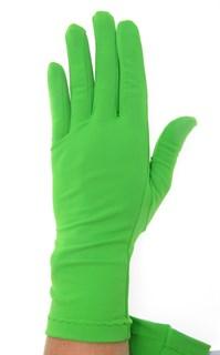 Салатовые летние перчатки трикотаж масло - фото 21681