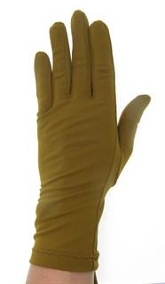 Летние перчатки трикотаж масло. Горчичный - фото 21689