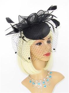 Черная шляпка из синамей Айлин