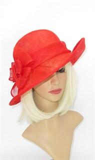 Летняя шляпа из синамей. Красная