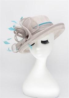 Летняя шляпа из синамей. Серая
