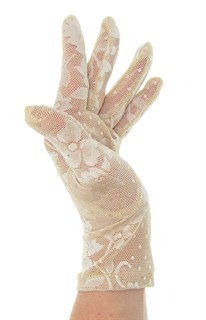 2790. Короткие перчатки. Гипюр - фото 21858