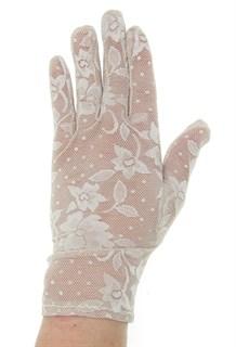 2790. Короткие перчатки. Гипюр - фото 21859