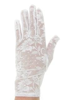 2790. Короткие перчатки. Гипюр - фото 21861