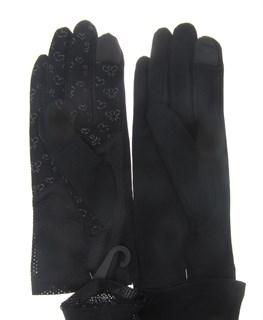 3136. Короткие прозрачные перчатки с бантиками. - фото 21869