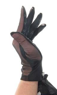 4120. Сенсорные прозрачные перчатки с сеточкой - фото 21883