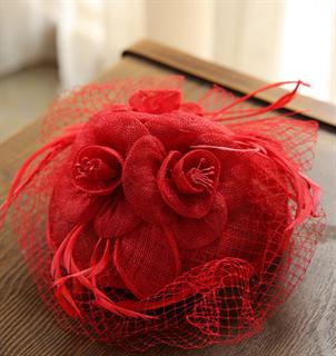 4160. Шляпка-таблетка красная Фиона