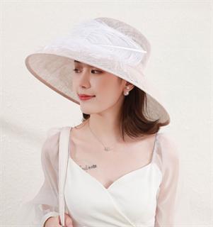 4169. Летняя шляпа с полями Виргиния. Белая