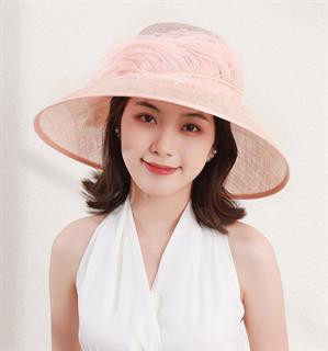 4170. Летняя шляпа с полями Виргиния. Пудра