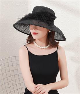 4171. Летняя шляпа с полями Виргиния. Черная