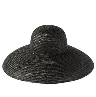 4180. Летняя шляпа с полями в стиле Dior. Черная - фото 22234