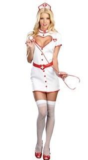 Халат медсестры с декольте в виде сердца