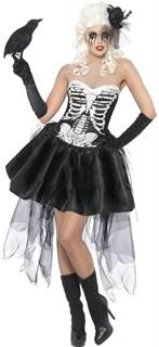 Пышное платье со скелетом