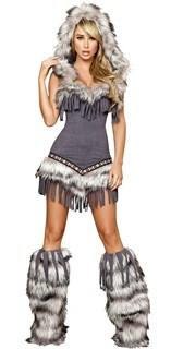 Меховой костюм индейской девушки