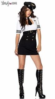 Эротический костюм стюардессы - облегающее мини платье